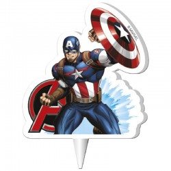 """Bougie Avengers """"Captain America"""", bougie super héros, bougie Avenger, bougie captain america, bougie personnage de bd"""