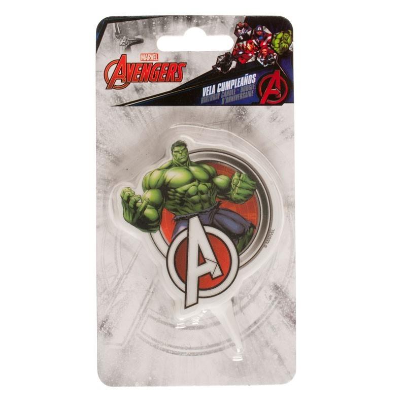 "Bougie Avengers ""Hulk"", bougie super héros, bougie Hulk, bougie personnage de bd"