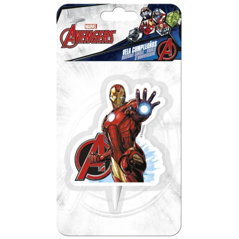 """Bougie Avengers """"Iron Man"""", bougie super héros, bougie avenger, bougie personnage de bd"""