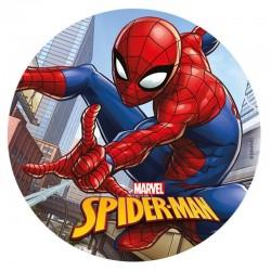 """Disque en azyme """"Spiderman"""", gâteau spiderman, décoration spiderman, décorations comestible spiderman, spiderman, disque spiderm"""