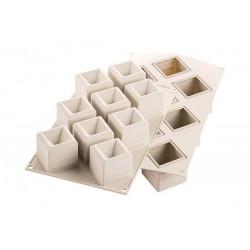 """Moule en silicone """"Mosaico"""", moule cubes, moule silicone cubes, moule portion chic, moule silicone portion chic"""