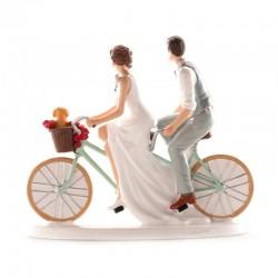 """Figurine mariage """"A vélo"""""""