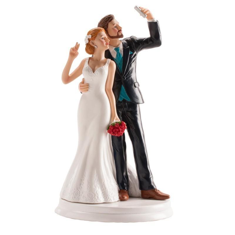"""Figurine mariage """"Selfie"""", figurine de mariage, figurine mariés selfie"""