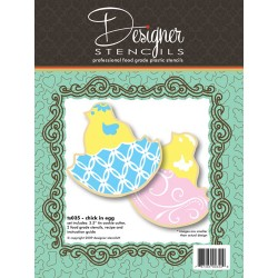 Chick in Egg Cookie Cutter & Stencil Set - ACTION