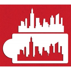 Pochoir New York Skyline