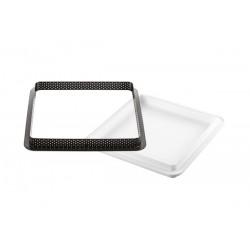 Cadre à tartes perforés, cadre à tarte et insert, moule pour tarte carrée, kit cadre à tarte et insert, cadre à tarte et moule