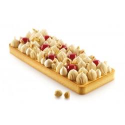Moule à tarte rectangulaire, cadre perforé tarte, cadre tarte, cadre perforé, cadre perforé rectangulaire, moule rectangulaire,