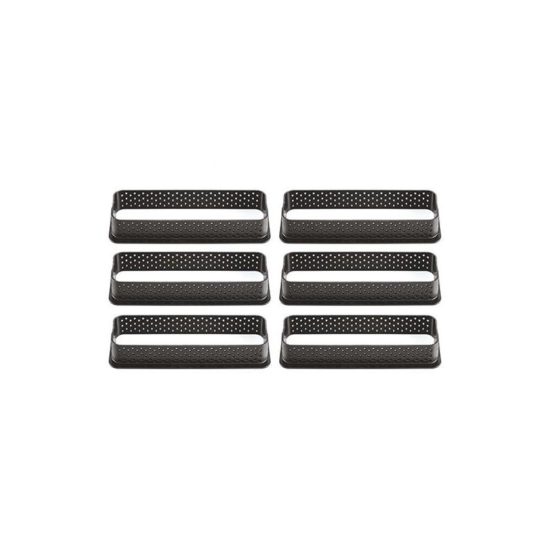 cadre rectangulaire pour tartelettes,Rectangles perforés, cadre perforé tartelettes, set de cadre tartelettes, set cadre tartele