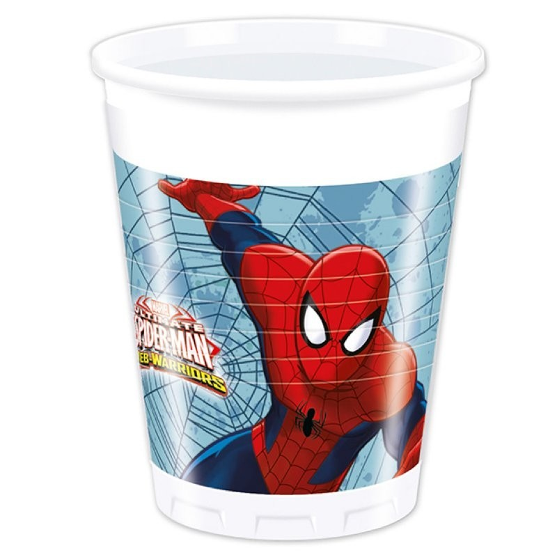 Gobelets spiderman anniversaire