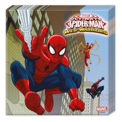 Serviette anniversaire Spiderman