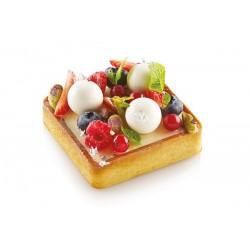 Cadres à tartes perforés, cadre à tarte, moule pour tarte carrée, kit cadre à tartelettes, 6 cadre à tartelettes