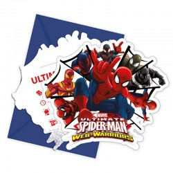 Cartes invitations Spiderman