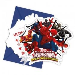 Spiderman-Einladungskarten