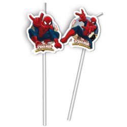 Spiderman straws
