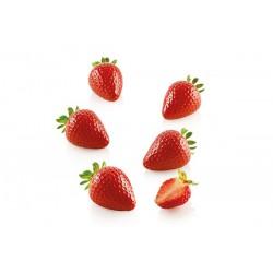 """Moule en silicone """"Fragola 30"""", moule silicone fraise, moule fraise, kit moule fraise, kit moules silicone fraise, entremet form"""