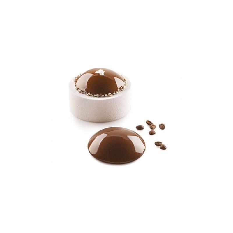 """Moule en silicone """"Cupole 55"""",moule dôme, moule en forme de dome, moule silicone en forme de dôme, dôme, pâtisserie dôme, pâtiss"""