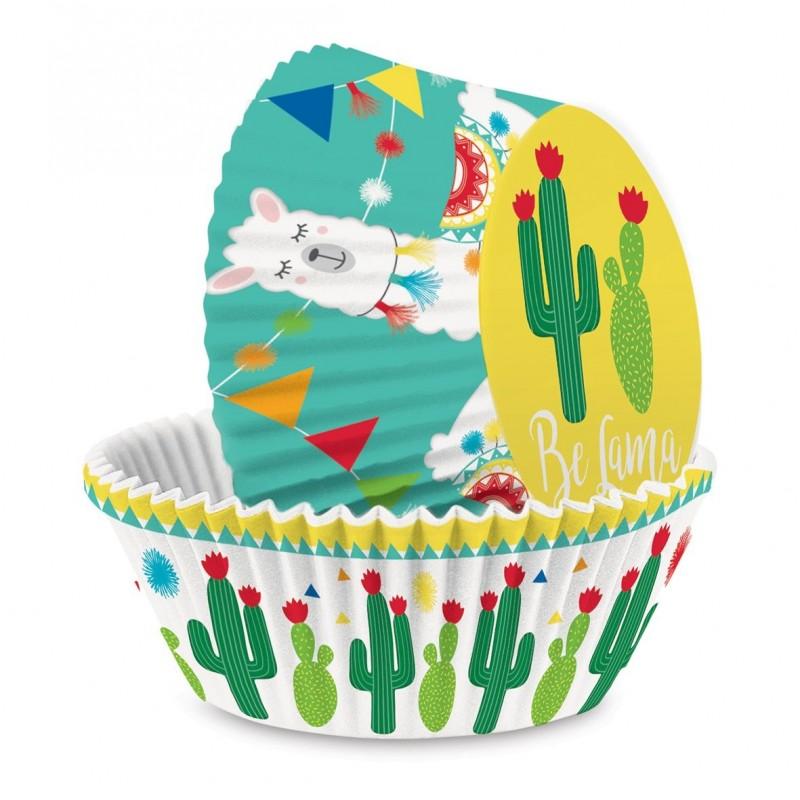 Caissettes été, cupcake été, décoration gâteau été, anniversaire lama , caissette lama, muffins lama, anniversaire lama, décorat
