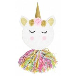 """Piñata """"Tête de licorne"""", anniversaire licorne, licorne, décoration licorne,"""
