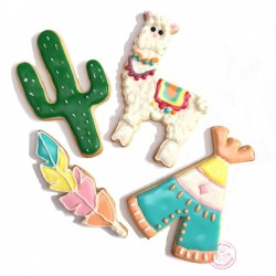 """Emporte-pièces """"Lama"""", emporte-pièce été, emporte-pièce thème lama, biscuits lama, jolis biscuits lama, empirte-pièce cactus, em"""