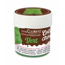 "Color'choco ""Vert"", colorant chocolat, colorant alimentaire, colorant vert, colorant vert pour chocolat"