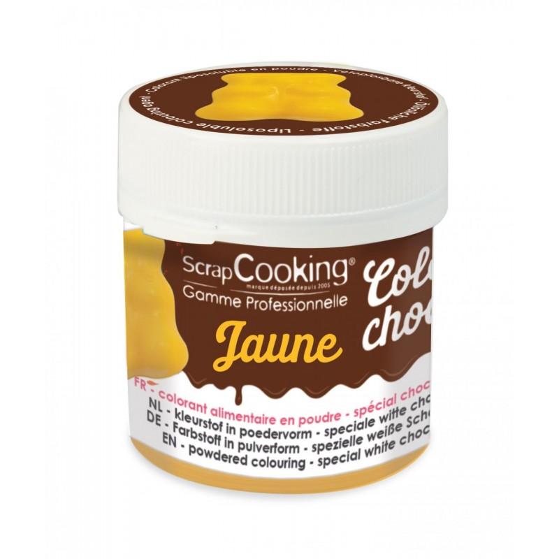 """Color'choco """"Jaune"""", colorant chocolat, colorant alimentaire, colorant jaune, colorant jaune pour chocolat"""