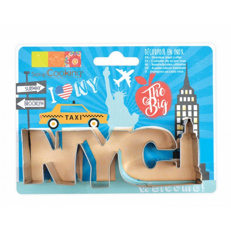 "Emporte-pièce ""NYC"", new-york, biscuit new york, gâteau new york,"