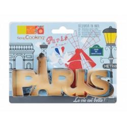 """Emporte-pièce """"Paris"""", Paris, biscuit Paris, gâteau Paris,"""
