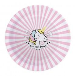 Assiettes Licorne, anniversaire licorne, licorne, décos licorne, décorations licorne, couverts licorne