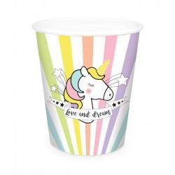 Gobelet Licorne, anniversaire licorne, licorne, décos licorne, décorations licorne, couverts licorne, verre licorne