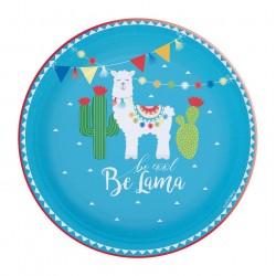 Assiettes Lama, lama, anniversaire lama, décoration lama, couverts lama, fête lama,