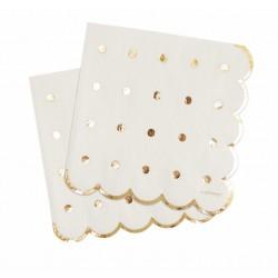 Serviettes Gold, serviettes dorées, serviettes dorées et blanches, anniversaire doré, anniversaire gold,