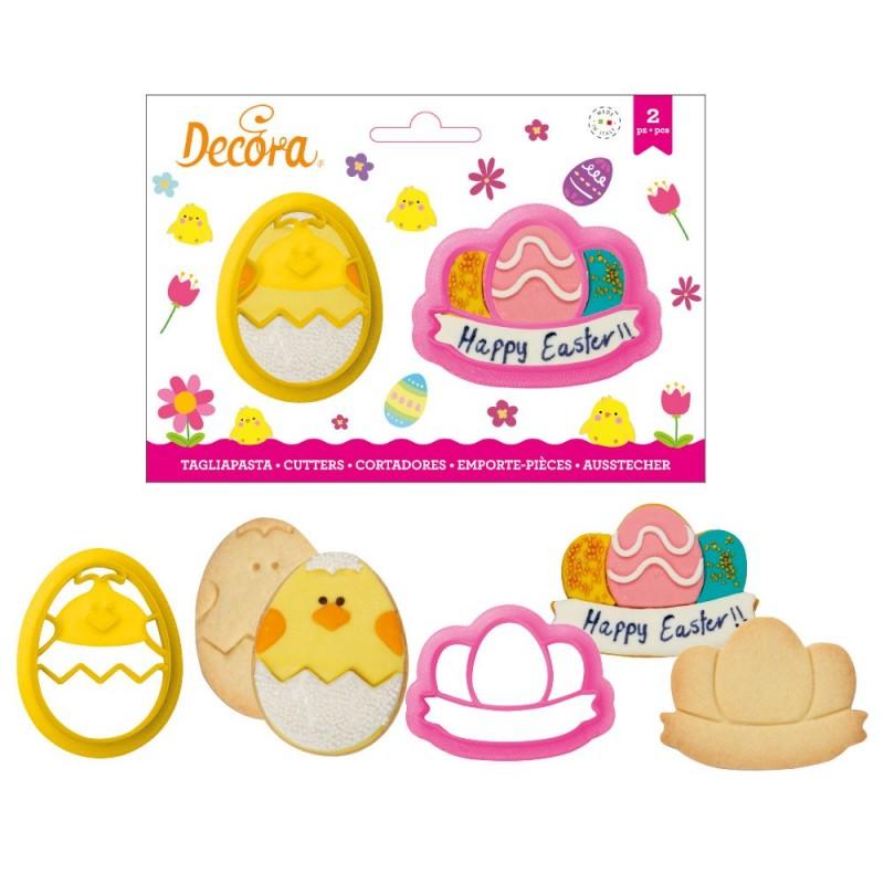 Emporte-pièces de Pâques, emporte-pièce oeuf, emporte-pièces pâques, emporte-pièces poussins, emporte-pièce biscuits de pâques