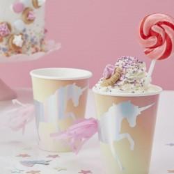 gobelets Licorne, couverts licornes, licornes, anniversaire licorne, anniversaire enchanté, verres licorne, gobelets arc-en-ciel