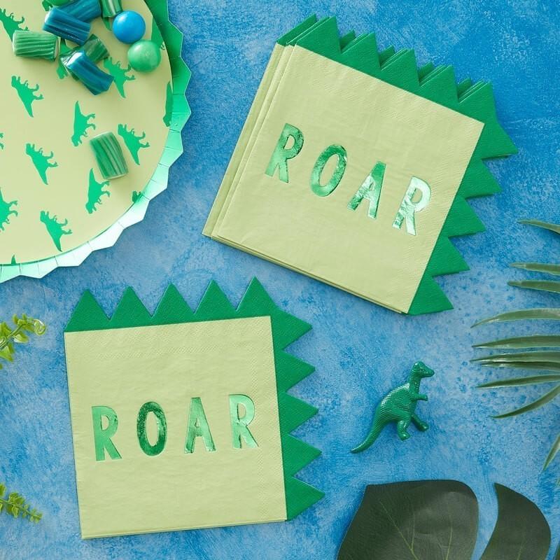 Serviettes dino, serviettes vertes, dinosaure, anniversaire dinosaure, serviettes dinosaure, vert, anniversaire dino, dino verts