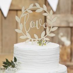 """Toppers """"Love"""", déco pour gâteau de mariage, mariage, décos en bois mariage, décos love en bois, topper love en bois, gâteau, ma"""