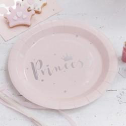 """Assiettes """"Princesse"""", couvert princesse, anniversaire princesse, assiettes rose, princesse, anniversaire enchanté, décos annive"""