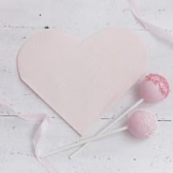 """Serviettes """"Coeurs"""", serviette rose, servietts mariage, serviettes anniversaire, décos mariage, décos anniversaire, décos rose"""