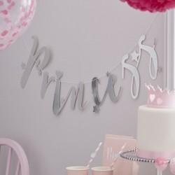 Guirlande de princesse, anniversaire princesses, décos princessaire, décos fête princesses, guiralnde rose, guiralnde pour fille