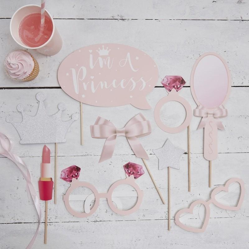 Accessoires de princesse,lunettes de princesse, accessoires en paier princesse, anniversaire princesses, coffret princesses, cof