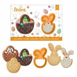 """Emporte-pièces """"lapin et panier"""", emporte-pièce pâques, emporte-pièces minions, emporte-pièce fête de pâques, pâques, emporte-pi"""
