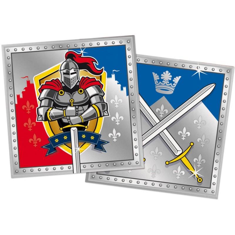 Serviettes Chevaliers, couvert chevalier, anniversaire chevalier, chevalier, décos anniversaire chevalier