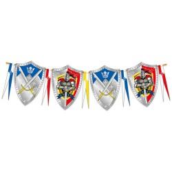 Guirlande Chevaliers, anniversaire chevalier, décos chevaliers, guirlandes, chevalier, guiralnde pour garçon