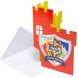 Carte d'anniversaire Chevaliers, carte chevalier, anniversaire chevalier, invitations chevalier, décos anniversaire chevalier