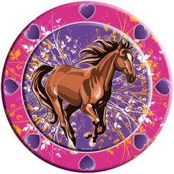 Assiettes Chevaux, couvert chevaux, chevaux, anniversaire chevaux, anniversaire Spirit, décos anniversaire chevaux