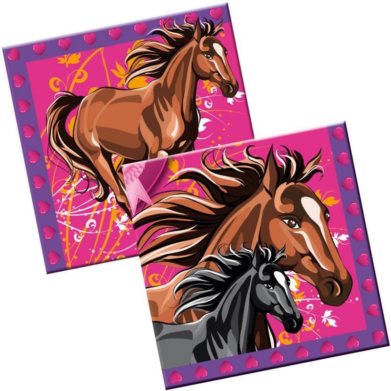 serviette en papier Chevaux, couvert chevaux, chevaux, anniversaire chevaux, anniversaire Spirit, décos anniversaire chevaux, se