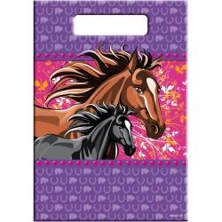 Sacs de fête chevaux, sachet bobons spirit, sachet bonbons cheveaux, anniversaire chevaux, anniversaire Spirit, cornet surprise
