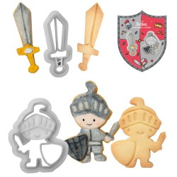 Emporte-pièces chevalier, emporte-piièce, chevalier, emporte-pièce bouclier, anniversaire chevalier, emporte-pièce épée, épée. b