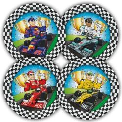Assiettes Formule 1, formule 1, assiette, anniversaire formule 1, assiettes course de voitures, assiettes circuits de voitures,