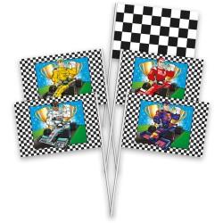 drapeaux Formule 1, décorations formule1, drapeaux circuits de voiture, lots de drapeaux formule1