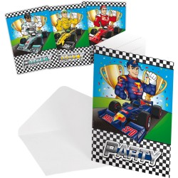 Carte d'invitation Formule 1, carte anniversire formule1, carte anniversaire circuit de voitures, anniversaire formule1, anniver
